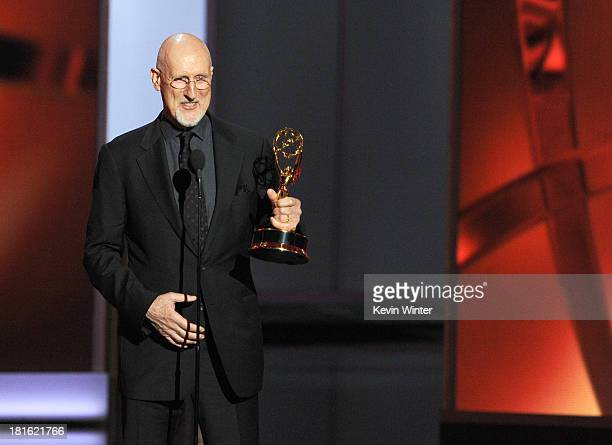 Winner for Best Supporting Actor in a Miniseries or Movie James Cromwell accepts his award onstage during the 65th Annual Primetime Emmy Awards held...