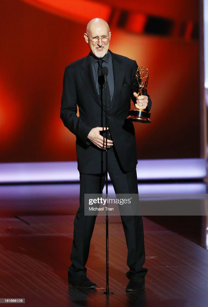 Winner for Best Supporting Actor in a Miniseries or Movie, James Cromwell speaks onstage during the 65th Annual Primetime Emmy Awards held at Nokia Theatre L.A. Live on September 22, 2013 in Los Angeles, California.