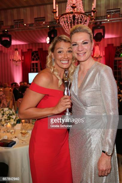 Winner Franziska van Almsick and Maria HoeflRiesch during the Gala Spa Awards at Brenners ParkHotel Spa on March 25 2017 in BadenBaden Germany