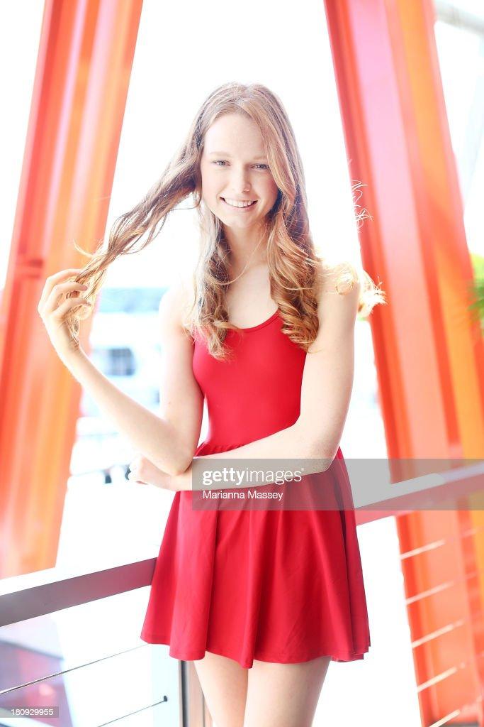 2012 winner Grace Simmons at the Girlfriend Rimmel Model Search winner announcement event on September 18, 2013 in Sydney, Australia.