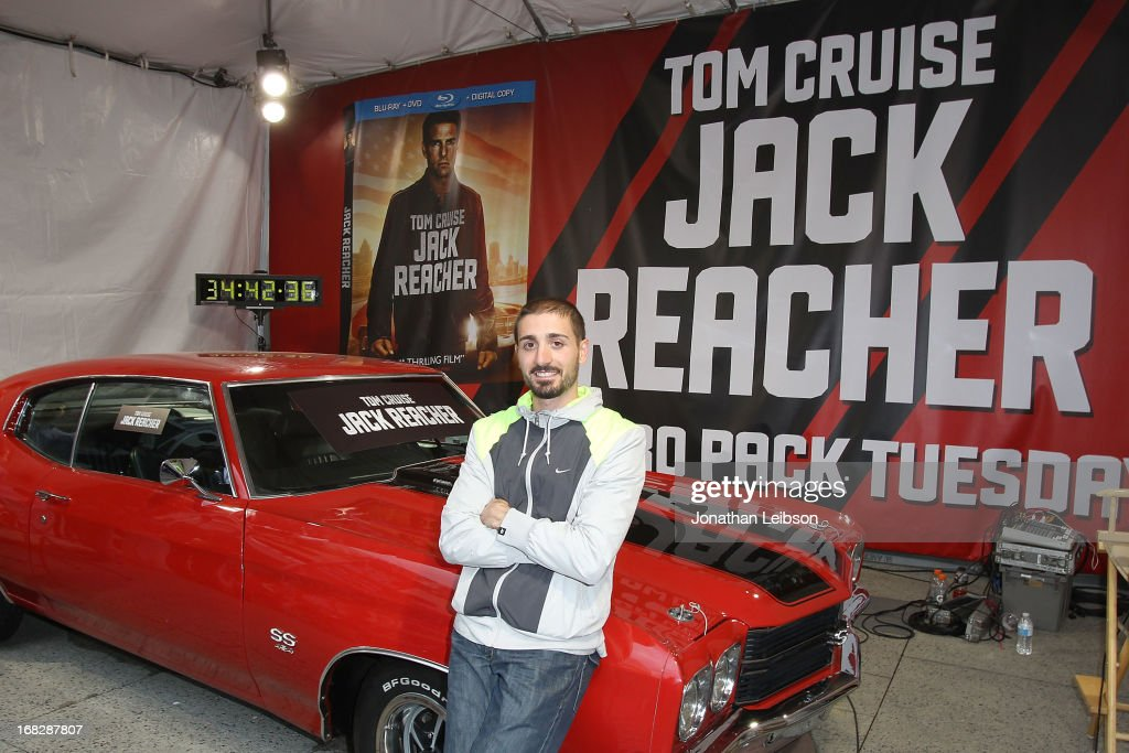 Winner Italo Ciccavelli at the 'Jack Reacher' Reach for Reacher Blu-Ray/DVD launch and 1971 Chevelle SS clone car giveaway at Hollywood & Highland Courtyard on May 7, 2013 in Hollywood, California.
