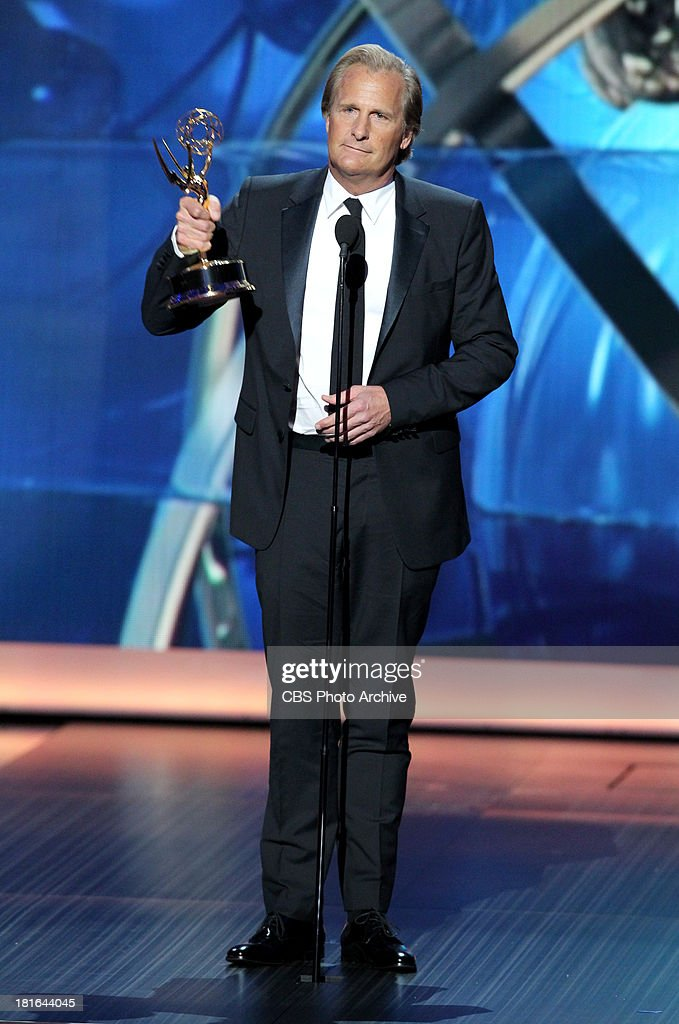 Winner, Jeff Daniels during the 65th Primetime Emmy Awards which will be broadcast live across the country 8:00-11:00 PM ET/ 5:00-8:00 PM PT from NOKIA Theater L.A. LIVE in Los Angeles, Calif., on Sunday, Sept. 22 on the CBS Television Network.