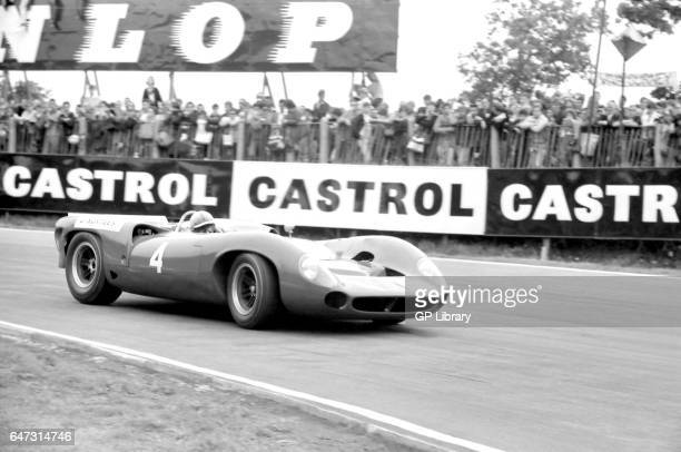 Winner John Surtees in the lola t70 spyder at Brands Hatch 1965