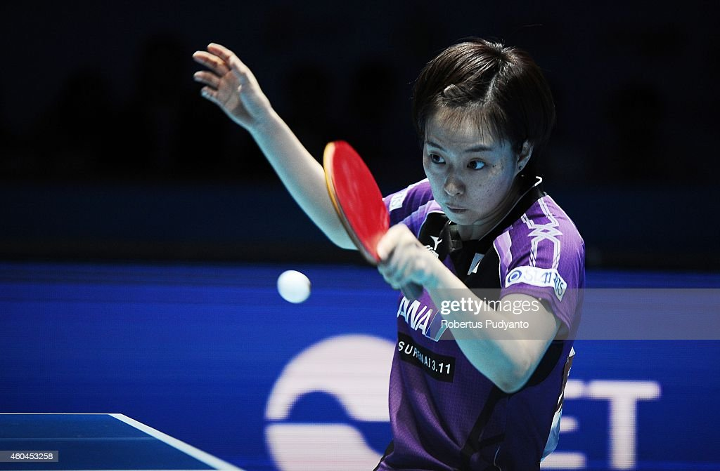 Winner <a gi-track='captionPersonalityLinkClicked' href=/galleries/search?phrase=Kasumi+Ishikawa&family=editorial&specificpeople=4946248 ng-click='$event.stopPropagation()'>Kasumi Ishikawa</a> of Japan in action during the Women's single final match of the 2014 ITTF World Tour Grand Finals at Huamark Indoor Stadium on December 14, 2014 in Bangkok, Thailand.