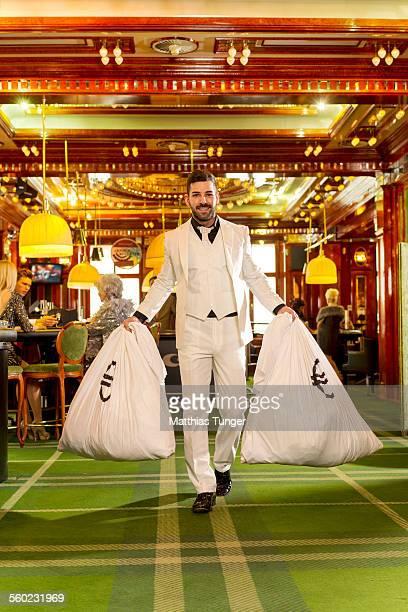 Winner leaving the casino