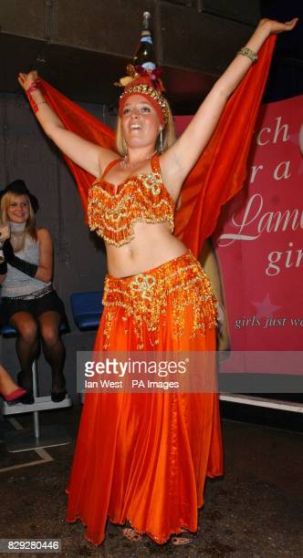 Winner Leila Payne from Manchester during the 'Search For The Lambrini Girl 2004' party at On Anon in Piccadilly Circus central London Leila will...