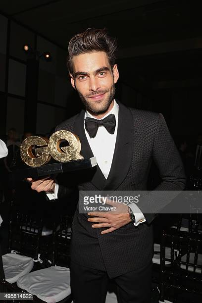 Winner male model of the year Jon Kortajarena attends the GQ Mexico Men of The Year 2015 awards at Live Aqua Bosques hotel on November 4 2015 in...