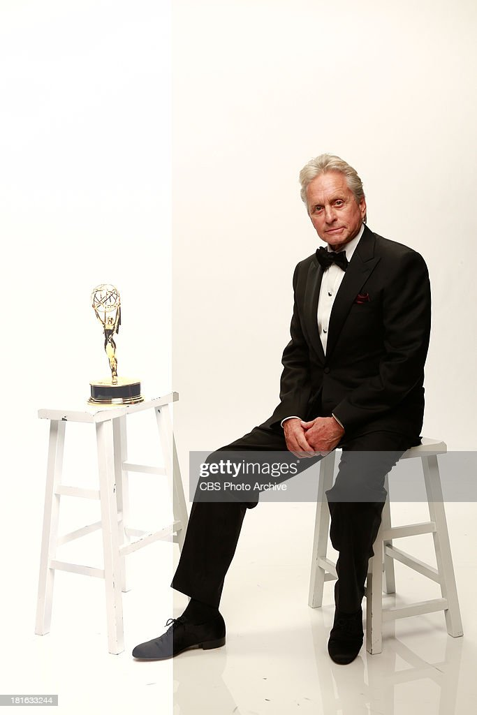 Winner, <a gi-track='captionPersonalityLinkClicked' href=/galleries/search?phrase=Michael+Douglas&family=editorial&specificpeople=171111 ng-click='$event.stopPropagation()'>Michael Douglas</a>, for Outstanding Lead Actor in a Miniseries/Movie for Behind the Candelabra during the 65th Primetime Emmy Awards which will be broadcast live across the country 8:00-11:00 PM ET/ 5:00-8:00 PM PT from NOKIA Theater L.A. LIVE in Los Angeles, Calif., on Sunday, Sept. 22 on the CBS Television Network.