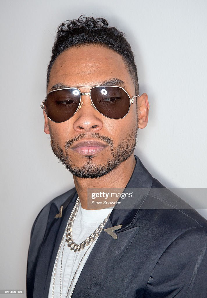 GRAMMY winner Miguel poses backstage following his performance at Route 66 Casino's Legends Theateron FEBRUARY 23, 2013 in Albuquerque, New Mexico.