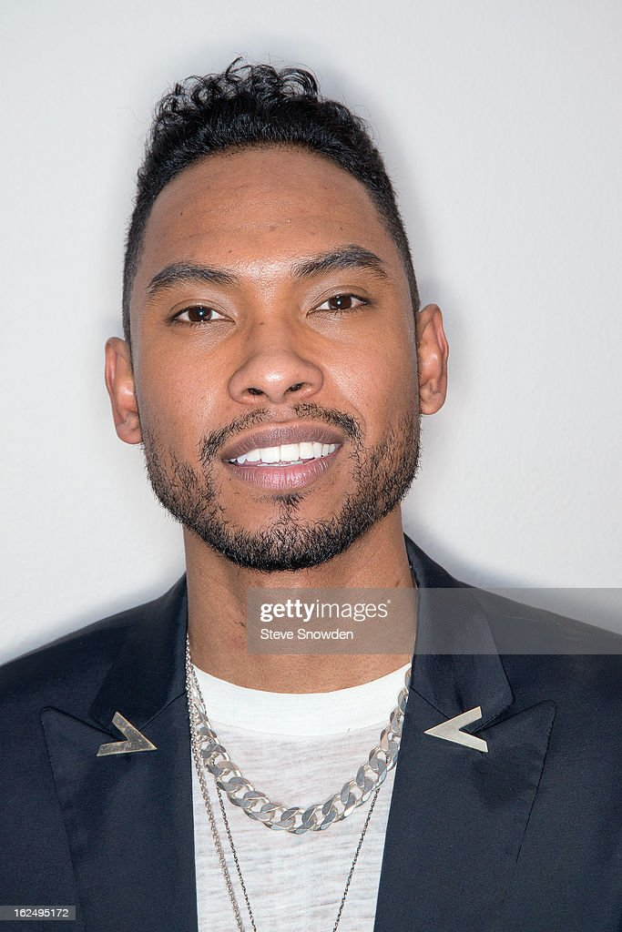 GRAMMY winner <a gi-track='captionPersonalityLinkClicked' href=/galleries/search?phrase=Miguel+-+Singer&family=editorial&specificpeople=8842866 ng-click='$event.stopPropagation()'>Miguel</a> poses backstage following his performance at Route 66 Casino's Legends Theateron FEBRUARY 23, 2013 in Albuquerque, New Mexico.