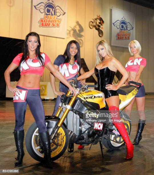 Winner of 2006 Celebrity Big Brother and former 'MCN Babe' Chantelle Houghton launches the MCN London Motorcycle Show at ExCel in east London