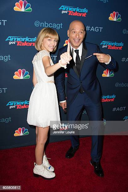 Winner of 'America's Got Talent' Season 11 Grace Vanderwaal and Howie Mandel arrive at the 'America's Got Talent' Season 11 Finale Live Show at the...