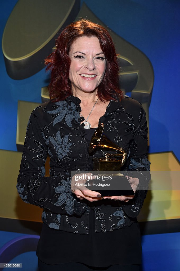 Winner of Best Americana Album, Best American Roots Song, and Best American Roots Performance, <a gi-track='captionPersonalityLinkClicked' href=/galleries/search?phrase=Rosanne+Cash&family=editorial&specificpeople=243014 ng-click='$event.stopPropagation()'>Rosanne Cash</a> poses at the Premiere Ceremony during The 57th Annual GRAMMY Awards at Nokia Theatre L.A. LIVE on February 8, 2015 in Los Angeles, California.