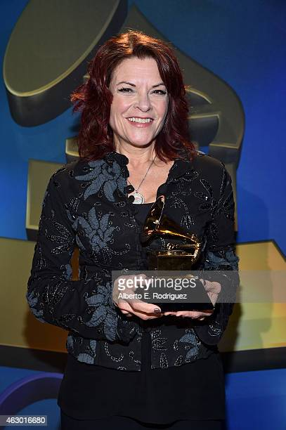 Winner of Best Americana Album Best American Roots Song and Best American Roots Performance Rosanne Cash poses at the Premiere Ceremony during The...
