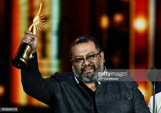 Winner of Best Direction Aniruddha Roy Chowdhury for 'Pink' speaks on stage during the IIFA Awards July 15 2017 at the MetLife Stadium in East...