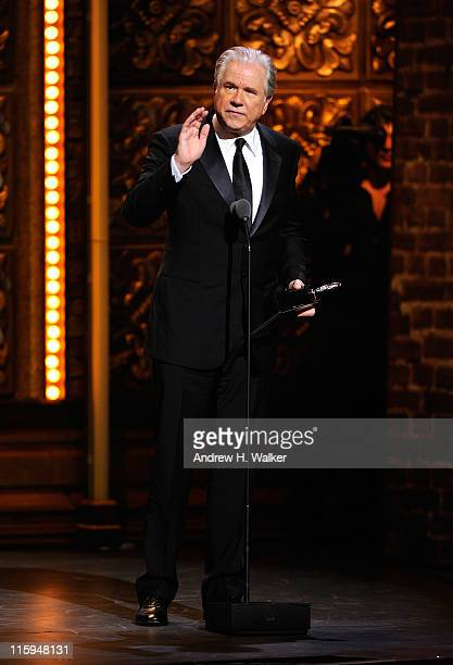 Winner of Best Performance by an Actor in a Featured Role in a Musical John Larroquette speaks on stage during the 65th Annual Tony Awards at the...