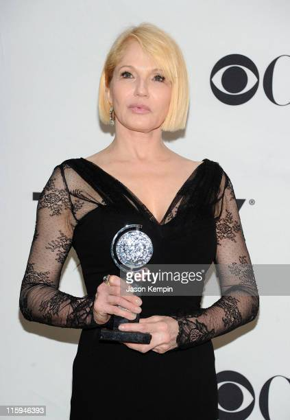 Winner of Best Performance by an Actress in a Featured Role in a Play Ellen Barkin attends the press room during the 65th Annual Tony Awards at the...