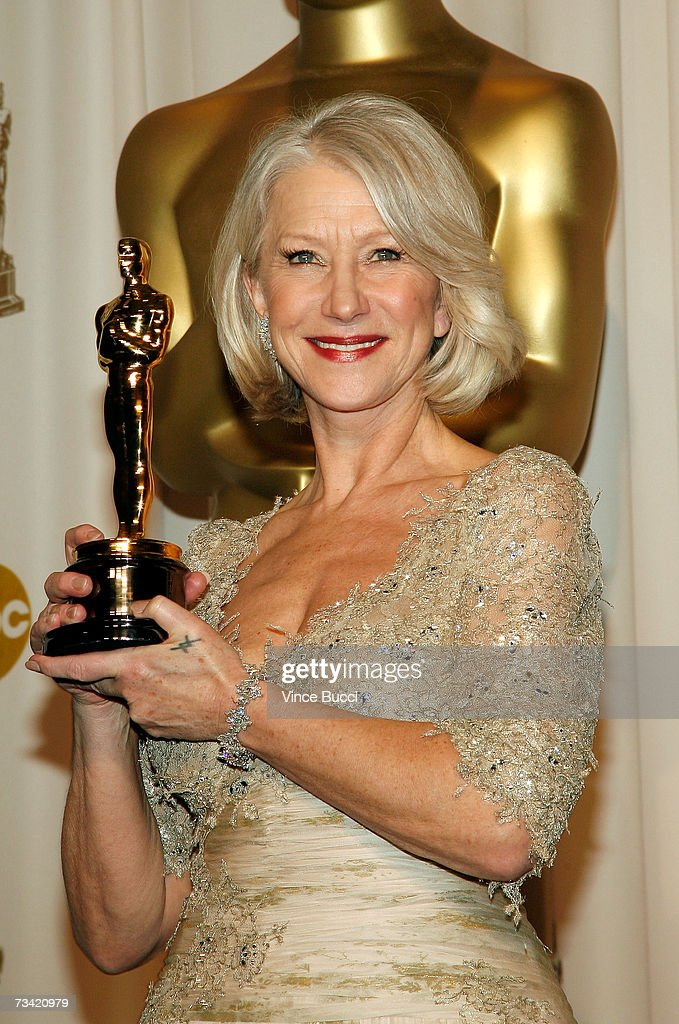 Winner of Best Performance by an Actress in a Leading Role for 'The Queen' <a gi-track='captionPersonalityLinkClicked' href=/galleries/search?phrase=Helen+Mirren&family=editorial&specificpeople=201576 ng-click='$event.stopPropagation()'>Helen Mirren</a> poses in the press room during the 79th Annual Academy Awards at the Kodak Theatre on February 25, 2007 in Hollywood, California.