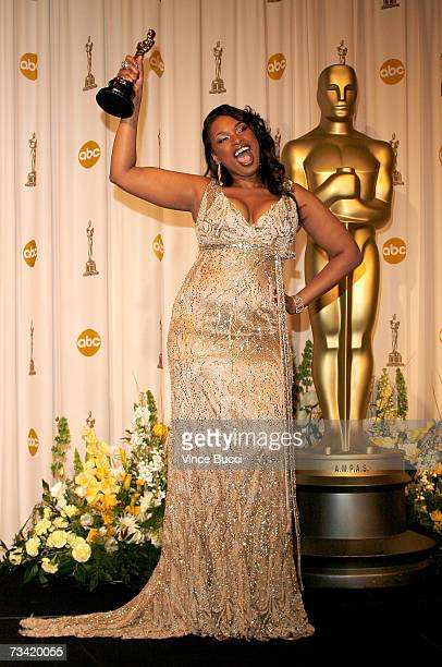 TELECAST*** Winner of Best Performance by an Actress in a Supporting Role for 'Dreamgirls' Jennifer Hudson poses in the press room during the 79th...