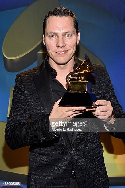 Winner of Best Remixed Recording DJ Tiesto at the Premiere Ceremony during The 57th Annual GRAMMY Awards at Nokia Theatre LA LIVE on February 8 2015...