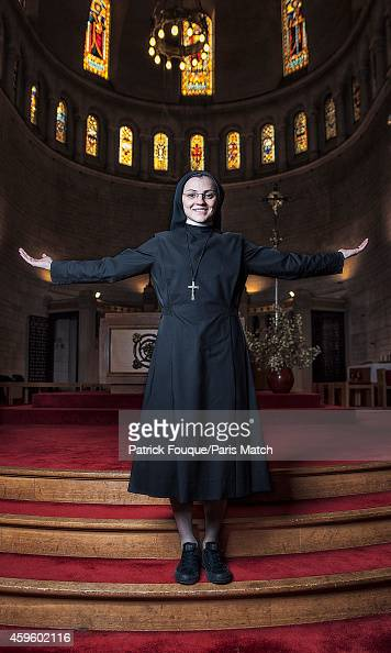 Winner of Italy's talent show The Voice 2014 Sister Cristina Scuccia is photographed for Paris Match on October 21 2014 in Paris France