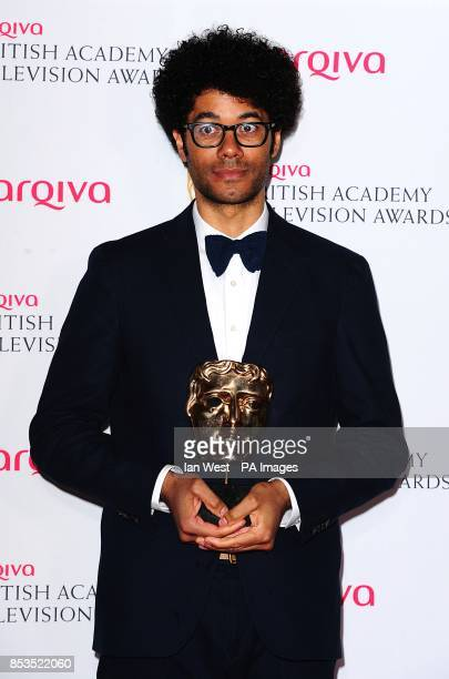 Winner of Male Performance in a Comedy Programme Richard Ayoade for The IT Crowd at the Arqiva British Academy Television Awards 2014 at the Theatre...