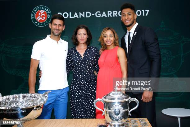 Winner of Roland Garros 2016 Novak Djokovic Spanish Winner of Roland Garros 2016 Garbine Muguruza Ambassadors of Olympic Games of Paris 2024 and...