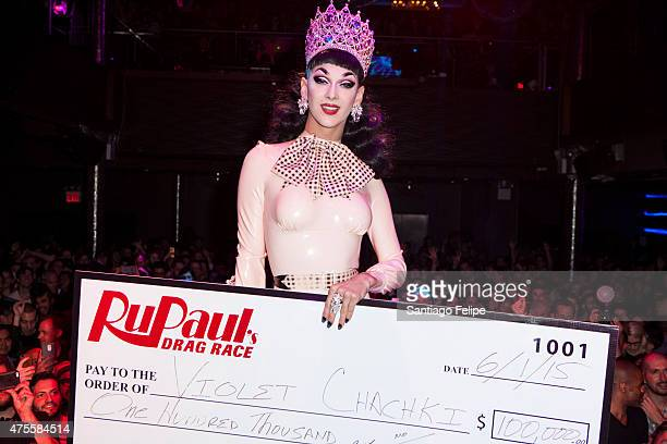 Winner of 'RuPaul's Drag Race' Season 7 Violet Chachki at Stage48 on June 1 2015 in New York City