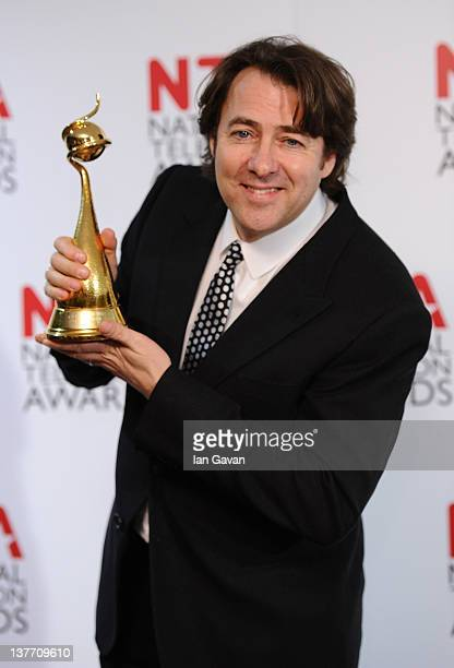 Winner of Special Recognition award Jonathan Ross poses in the press room at the National Television Awards 2012 at the O2 Arena on January 25 2012...