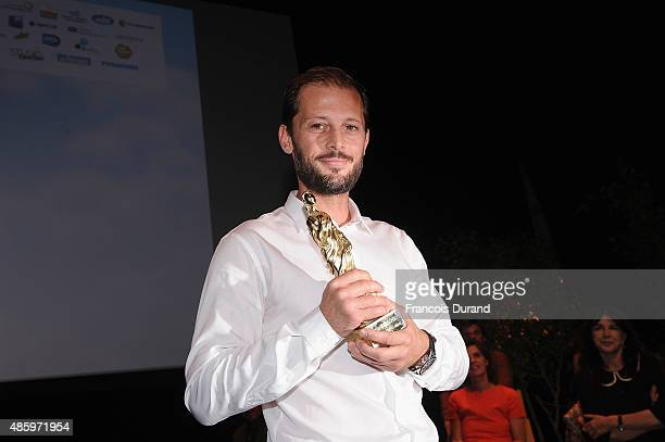 Winner of the best actor Nicolas Duvauchelle during the 8th Angouleme FrenchSpeaking Film Festival Closing Ceremony on August 30 2015 in Angouleme...