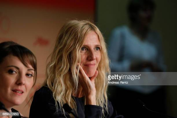 Winner of the Camera d'Or for best first film 'Jeune femme' director Leonor Serraille and President of the Camera d'Or jury Sandrine Kiberlain attend...