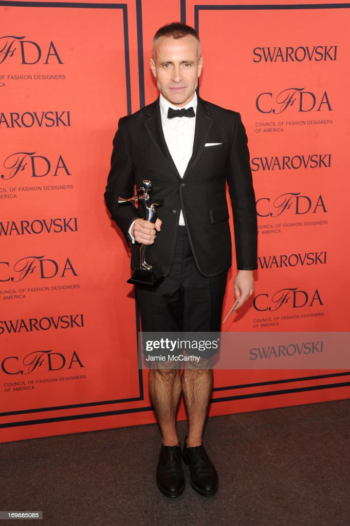 Winner of the CFDA Menswear Designer of the Year Award Thom Browne attends the 2013 CFDA Fashion Awards on June 3 2013 in New York United States