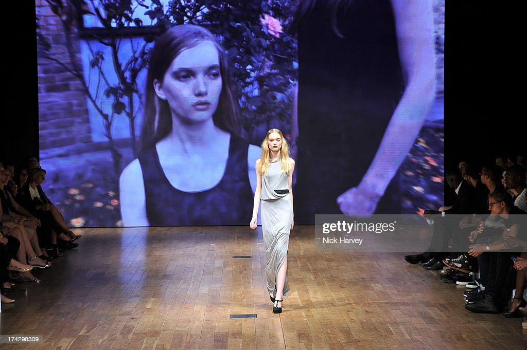 Winner of the Elite Model Management award May Bell attends the Elite Model Look at The Brewery on July 23, 2013 in London, England.