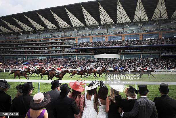 Winner of The King's Stand Stakes Profitable ridden by Adam Kirby during day 1 of Royal Ascot at Ascot Racecourse on June 14 2016 in Ascot England