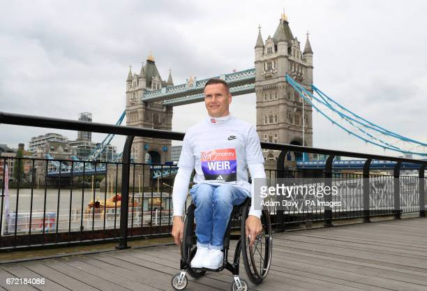 Winner of the men's wheelchair race David Weir during a photocall at The Tower Bridge Hotel London PRESS ASSOCIATION Picture date Monday April 24...