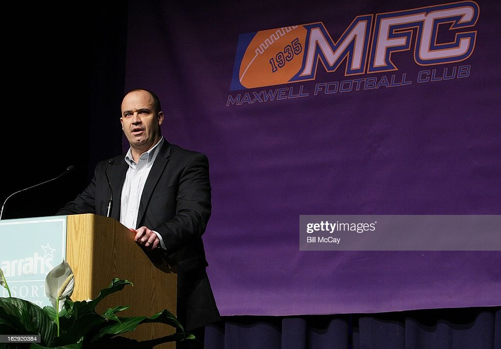 Winner of the MFC Collegiate Coach of the Year Bill O'Brien from Penn State attends the Maxwell Football Club Awards Dinner Press Conference on March 1, 2013 in Atlantic City, New Jersey.