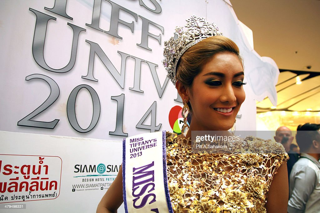 Winner of the Miss Tiffany Universe contest in 2013, Nethnapada Kanrayanon during a press conference in Bangkok. About 70 candidates registered for the 2014 contest. The Miss Tiffany Universe contest has been running for 16 years, with all of the transexual or transvestite contestants, aiming to promote human rights for the transgender population in Thailand.