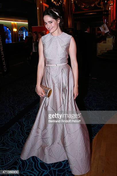 Winner of the 'Moliere de la Comedienne dans un spectacle de Theatre Prive' with 'La Venus a la Fourrure' Marie Gillain attends the 27th 'Nuit Des...