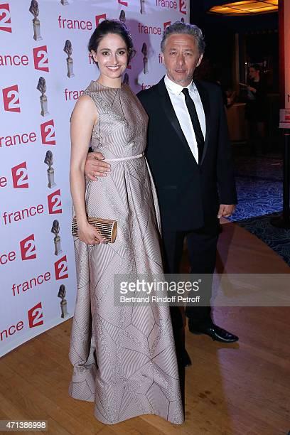 Winner of the 'Moliere de la Comedienne dans un spectacle de Theatre Prive' with 'La Venus a la Fourrure' Marie Gillain and and winner of the...