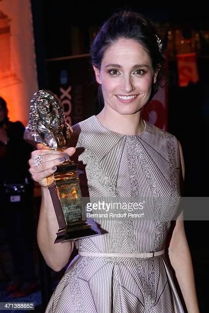 Winner of the 'Moliere de la Comedienne dans un spectacle de Theatre Prive' with 'La Venus a la Fourrure' Marie Gillain attends the 27th 'Nuit Des...