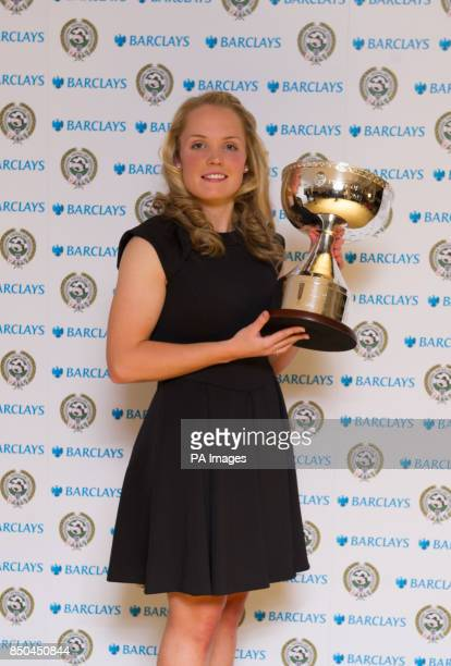 Winner of the PFA Women's Player of the Year Kim Little during the 2013 PFA Player of the Year Awards at the Grosvenor House Hotel London