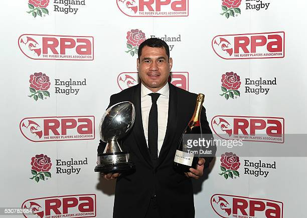 Winner of The RPA Players' Player of the Year in association with England Rugby Award George Smith poses for photos during the RPA Players' Awards...