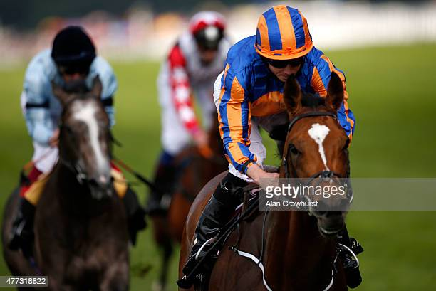 Winner of the St James's Palace Stakes Ryan Moore riding Gleneagles during day 1 of Royal Ascot 2015 at Ascot racecourse on June 16 2015 in Ascot...