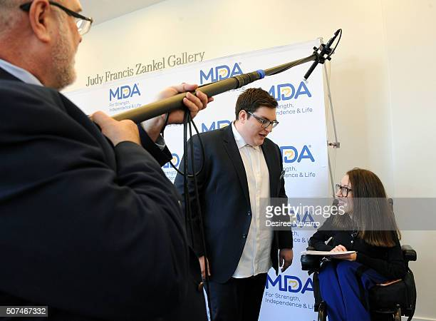 Winner of 'The Voice' Season 9 Jordan Smith and Shannon DeVido attend the Muscular Dystrophy Association Funding Announcement at Carnegie Hall on...