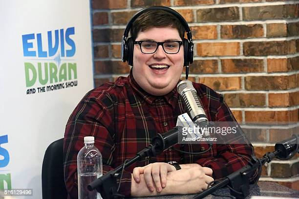 Winner of 'The Voice Season 9' Jordan Smith visits 'The Elvis Duran Z100 Morning Show' at Z100 Studios on March 17 2016 in New York City