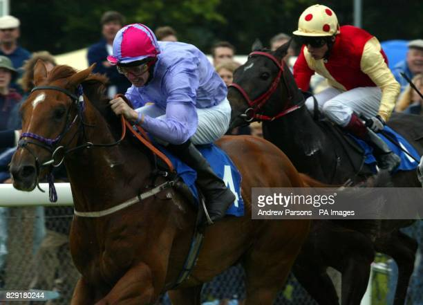 Winner Palace Affair ridden by Steve Carson in the Axminster Carpets Cathedral Stakes at Salisbury Races