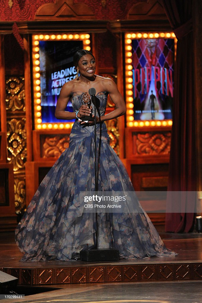 Winner Patina Miller during THE 67TH ANNUAL TONY AWARDS broadcast live from Radio City Music Hall in New York City, Sunday, June 9 (8:00-11:00 PM, live ET/delayed PT) on the CBS Television Network.
