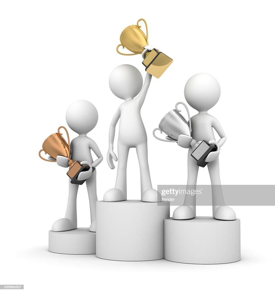 winner podium : Stock Photo