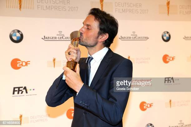 Winner Simon Verhoeven with award during the Lola German Film Award 2017 at Palais am Funkturm on April 28 2017 in Berlin Germany