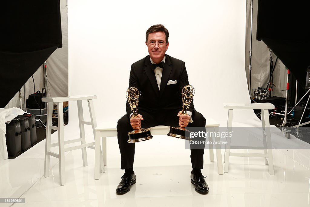 Winner, <a gi-track='captionPersonalityLinkClicked' href=/galleries/search?phrase=Stephen+Colbert&family=editorial&specificpeople=215133 ng-click='$event.stopPropagation()'>Stephen Colbert</a>, for Outstanding Variety Series for THE COLBERT REPORT during the 65th Primetime Emmy Awards which will be broadcast live across the country 8:00-11:00 PM ET/ 5:00-8:00 PM PT from NOKIA Theater L.A. LIVE in Los Angeles, Calif., on Sunday, Sept. 22 on the CBS Television Network.